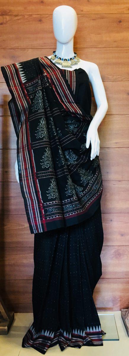 Hand Woven Pure Cotton Sambalpuri Ikat Saree