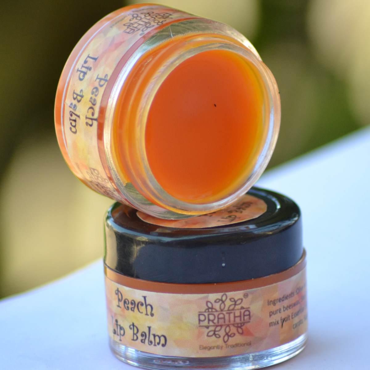 Natural Peach Lip Balm